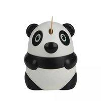 ingrosso supporto per stuzzicadenti-Decorazione automatica della Tabella del ristorante dell'erogatore di stuzzicadenti del fumetto di Panda Design del supporto automatico di stuzzicadenti Trasporto libero all'ingrosso