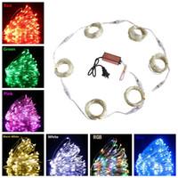 ingrosso ha condotto la ghirlanda di albero illuminata-LED String lights 100M Night light Holiday Lighting Per Garland Fairy Christmas Tree Decorazione della festa nuziale