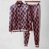 terli takım markaları toptan satış-Tasarımcı Eşofman Erkekler Lüks Ter Takım Elbise Sonbahar Marka Erkek Eşofman Jogging Yapan Takım Elbise Ceket + Pantolon Setleri eğlence kadın Spor Suit