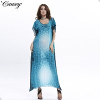 bohren blume großhandel-Star Summer Modell Nepal Hot Drilling Will Flower Fledermaus Ärmellanger Rock Anzug-Kleid