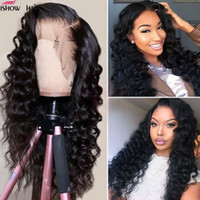 Wholesale wavy lace frontal for sale - Group buy 10A Full Lace Human Hair Wigs Loose Deep x4 Human Hair Lace Front Wigs Brazilian Hair Loose Wave Pre Plucked lace frontal wigs