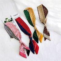 ingrosso accessori per capelli sciarpe-Sciarpe di seta stampa stile vintage Sciarpe Piccole signore Decorare foulard Designer di lusso Accessori per capelli Nastro per capelli 4 5hq O1