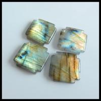 Wholesale semi precious cross for sale - Group buy Natural Gemstone Hight quality Labradorite Cross Cabochons Semi precious stones accessories18x18x4mm g
