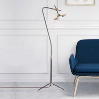 Wholesale legs lamp resale online - Nordic modern personality creative wrought iron floor light living room coffee bedroom glass lampshade three legged floor lamp