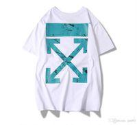 circuito t venda por atacado-Moda de rua gyEuropean e americano fora tendência 2019 circuito de intemperismo cross arrow homens e mulheres casal de manga curta t-shirt