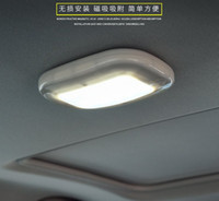 Wholesale magnetic ceiling lamp led resale online - LED Car Reading Lights Indoor Roof Ceiling Lamp Interior Decorative Light Magnetic With USB Cable Chargeable Battery