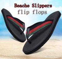 en iyi plaj sandaletleri toptan satış-2018 YENI Avrupa Marka tasarımcısı terlik çizgili sandalet kaymaz yaz huaraches terlik açık plaj terlik terlik EN IYI KALITE
