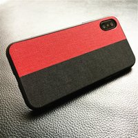 Wholesale notes block for sale - Group buy Cloth Pattern Phone Case For Iphone X XR XS Max Color Blocking Back Cover For Samsung
