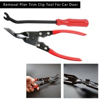 Wholesale trim panel clip tools for sale - Group buy High Quality Set Car Interior Door Panel Trim Clip Removal Plier Upholstery Remover Pry Bar Tool Car Door Trim Clip Remover