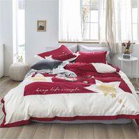 пуховое одеяло голубой розовой розы оптовых-60-х годов сшитые с хлопком вышивка сатин современный стиль постельное белье пододеяльник простыня наволочки роза красный розовый синий пентаграмма