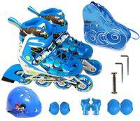 tekerlekli paten ayakkabıları toptan satış-Çocuk Gençler Inline Buz Paten Ayakkabı Kask Koruyucu Dişli Setleri Diz Koruyucu Çanta Ayarlanabilir Yıkanabilir Flaş tekerlekler