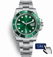 nuevas cerraduras al por mayor-Nuevo reloj de pulsera Orologio di Lusso Glide Lock Correa para hombres Reloj automático nuevo Relojes verdes 116610LV Orologio Automatico Orologi da Uomo