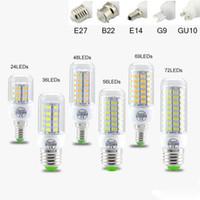 g9 led ampoule blanc chaud 9w achat en gros de-SMD5730 E27 E12 E14 GU10 B22 ampoules LED G9 7W 9W 12W 15W 18W 110V 220V angle 360 de l'ampoule LED lumière de maïs