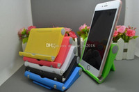 Wholesale portable fold stand tablet pc for sale - Group buy Desktop universal folding mobile phone stand Tablet PC Universal holder with box stent portable lazy stent for smartphone samsung