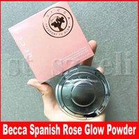 blush highlighter venda por atacado-Becca calço pele Perfector Pressionado Bronzeadores Highlighters Blush Espanhol face fulgor de Rose Maquiagem Pigment Pó compacto