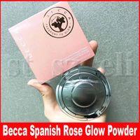 kızaran palet toptan satış-Becca terazi ayarına Cilt Mükemmelleştirici Sıkıştırılmış bronzers İşaretleyiciler Allık İspanyolca Gül Glow Yüz Makyaj Pigment Pudra