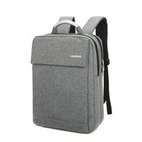 Wholesale men business backpack for sale - Group buy Man Portable Computer Bag Double Shoulders Backpack Metal Business Bags Scratch Prevention Vertical Square Gray Hot Sales xw C1