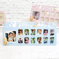 ingrosso carina foto di amore-Ricordi Love Cute cartoon decor Cornice Il mio primo anno Photo Moments Baby Keepsake Frame # 18