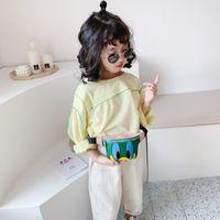 Wholesale small white korean backpacks resale online - 2020 New Style Korean style Pu CHILDREN S Cartoon Shoulder Bag Funny Bottle Nipple Small Waist Pack Girls Fashion Chest Bag Fash