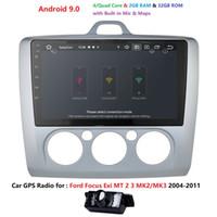 ingrosso auto gps mp3 2gb-Touch Screen RAM 2GB ROM 32GB Android 9.0 Auto Car Stereo GPS Navi Unità Player per Focus 2 Exi MT 2004-2011 RDS AM FM Radio DVD