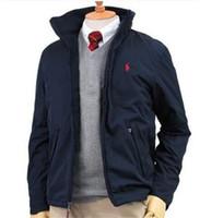 zip chemises achat en gros de-La nouvelle veste zippée hommes pour l'automne et l'hiver, avec un col montant, est marqué par un sport en plein air coupe-vent chemise à manches longues