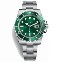 Wholesale mens luxury dive watches for sale - Group buy Dive Mechanical Wristwatches Sapphire mm LV HULK Ceramic Green Dial Bezel Automatic Mechanical Mens Watch Watches