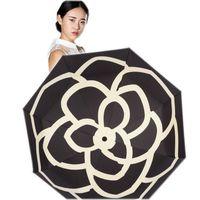 doppelte stoffschirme großhandel-Taschenschirme Regen Woman Parasol Damen Flower Umbrellas Female Anti Uv Windproof Damenschirme Guarda Chuva Sombrinha Y19062103