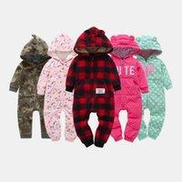 зимняя одежда для новорожденных оптовых-Теплое младенца Rompers младенца осень-зима мультфильм с капюшоном флис младенца Хэллоуин рождественские костюмы комбинезон новорожденных детской одежды