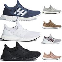 chaussures rayées bleues achat en gros de-Adidas Ultra boost Ultra 4.0 nouvelles chaussures de course triple blanc noir baskets pour femmes Montrez vos rayures bleu baskets Orca bleu marine multicolore Noble Rouge CNY