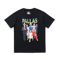 camisetas de palacio al por mayor-19SS Streetwear Hip hop Palacios hombre mujer Camiseta Casual Algodón Cuello redondo Letra Pallas Estampar camiseta Tops