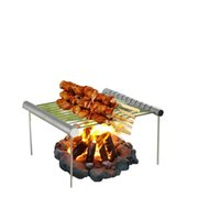 Wholesale skewers bbq resale online - Barbecue Rack Outdoors Stainless Steel Bbq Grilling Racks Skewers Picnic Cooking Tool Outdoor Party Convenient hr F1