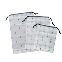 matorrales zapatos al por mayor-Bolsa de cordón de plástico Cactus Exfoliante transparente Bolsa de almacenamiento de viaje impermeable Bolsa de almacenamiento de ropa de viaje de negocios al aire libre