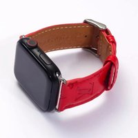 Wholesale leather smart watch for sale - Group buy For mm mm mm mm Embossed Flower For Apple Watch Bands Fashion Luxury Designer Watchbands Leather Belt Smart Straps Wristbands A08