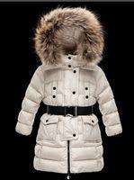 parka fourrure filles achat en gros de-2019 fille / femme pour enfants garçon Veste Parkas manteau avec capuchon pour se chauffent Vestes épais duvet à capuche pour enfants 100% réel fourrure Manteaux d'hiver