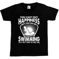 comprar camisas clássicas venda por atacado-Você não pode comprar a felicidade, mas você pode ir nadar t-shirt clássico qualidade alta t-shirt
