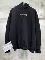 yüksek moda bayan süveter toptan satış-Yeni Yüksek kalite moda VETEMENTS Nakış Mektubu baskı erkek kadın kazak Hoodies HIP HOP Kanye West Kaykay Tişörtü XS-L