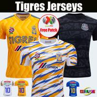 jerseys de fútbol para mujeres al por mayor-2018 2019 UANL TIGRES Nuevo tercer JERSEYS 18/19 México Club LIGA MX Mujeres Hombres Maillot De Foot Inicio Amarillo Camisetas de fútbol de 6 estrellas de GIGNAC