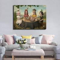 Wholesale office decor paintings resale online - Mark Ryden Allegory Of The Four Elements Wall Art Canvas Posters Prints Painting Wall Pictures For Office Bedroom Home Decor Artwork