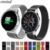 engrenagem ativa venda por atacado-Pulseira milanesa Para Samsung Galaxy relógio 46mm / 42mm / Pulseira ativa Gear S3 Frontier / S2 / Esporte aço inoxidável Huawei watch GT strap 46