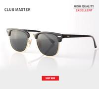 ingrosso occhiali da sole a specchio di fabbrica-Nuova vendita calda all'ingrosso della fabbrica rd3016 51mm metà telaio designer club occhiali da sole Donna Mens master UV400 protecton specchio occhiali da sole gafas