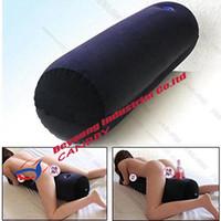 mujer inflable para el sexo al por mayor-Cojín de aire de almohada inflable de muebles sexuales multiusos con orificio para juguetes sexuales de masaje, almohada inflable para mujeres