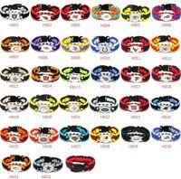 ingrosso paracord misto-Mix Styles 32 Braccialetti di sopravvivenza Paracord della squadra di calcio Braccialetti sportivi da campeggio su misura Logo personalizzato Ombrello della squadra