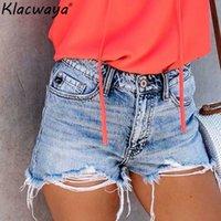 desgaste das mulheres coreanas das calças de brim venda por atacado-Vintage novas mulheres buraco shorts jeans 2019 verão senhoras moda férias mini calça jeans coreano meninas street-wear calças curtas ins chique