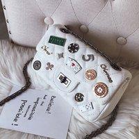 rozet zincirleri toptan satış-Tasarımcı-Klasik Flap çanta kadın Ekose Zincir çanta Bayanlar lüks rozeti Çanta Moda tasarımcısı çanta Omuz Messenger çanta 20X12X7 CM