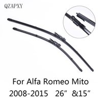 ingrosso parabrezza anteriore-Spazzole tergicristallo anteriore e posteriore per Alfa Romeo Mito forma 2008 2009 2010 2011-2015 Accessori auto Tergicristalli Auto-styling