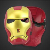 ferro homem face brinquedo venda por atacado-Legal Cosplay Anime Iron Man Máscara Festa de Halloween Full-face Spider-man Máscara Make Up Toy para Crianças Adultos