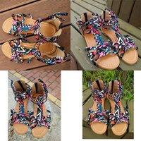 ingrosso sandali di stile etnico-Sandali delle donne della Boemia Estate Balneare Vacanze Stile etnico Flattie Scarpe di alta qualità Tempo libero Bardian Vendita calda 27zj D1