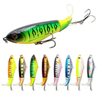 Wholesale spinner tails resale online - 1PCS cm g Rotating Tail Whopper Plopper Fishing Lure Minnow Fishing Artificial Hard Bait Topwater Quality Crankbait T191016