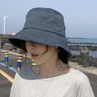 Wholesale sunshade hats women for sale - Group buy Korean Version Summer Sun Bucket Fisherman Hat Women Sunshade Sun Protection Cap Ladies Japanese Pure Color Fashion Hats