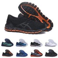 iluminação cinza venda por atacado-zapatos gel chaussures asics shoes \Luz Gel-Quantum 360 II Novo design Cinza Branco Preto Mens Almofada Running Shoes Original 2 2 s Melhor Qualidade Athletic Sneakers 40-45